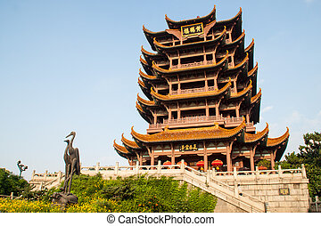 Yellow Crane Tower temple in China - Yellow Crane Tower is...