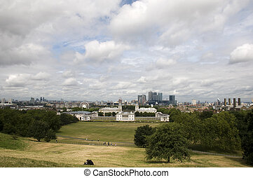 London - A view of the London skyline at Greenwitch