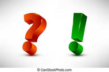 question and exclamation marks - Question and exclamation...