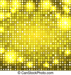 Yellow abstract background with circles