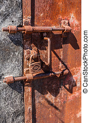 Lock of prison - Old rusty lock of penal colony