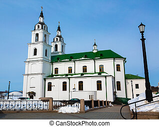Cathedral of Holy Spirit in Minsk. Main Orthodox church of...
