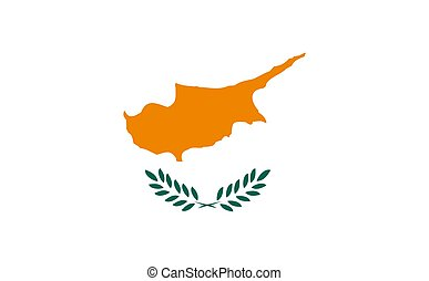 Flag Of Cyprus - 2D illustration of the flag of Cyprus