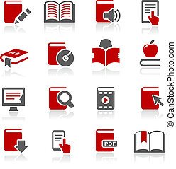 Book Icons -- Redico Series - Vector icons for your web or...