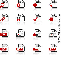 Documents Icons - 1 -- Redico Serie - Vector icons for your...