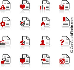 Documents Icons - 2 -- Redico Serie - Vector icons for your...