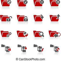 Folder Icons - 1 -- Redico Series - Vector icons for your...