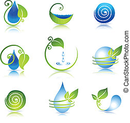 Nature icons - Beautiful nature icon collection, Water and...