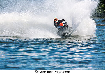 Jet ski in action