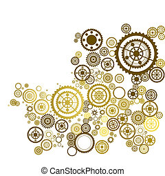Abstract clockwork background, seamless pattern with...