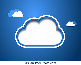 Cloud Design Background - This image is a vector file...
