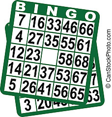 Bingo game cards - Bingo card on a white background Vector...