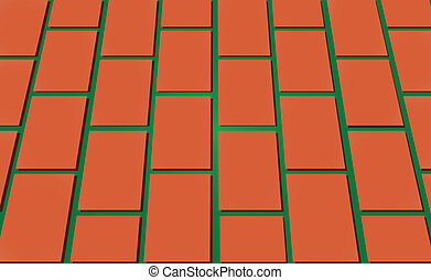 Road paved with bricks - The road paved with bricks Vector...