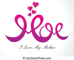 abstract mother's day background ve
