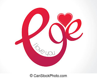 abstract love text wallpaper vector illustration