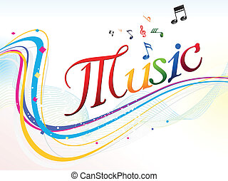 abstract colorful music text backgr