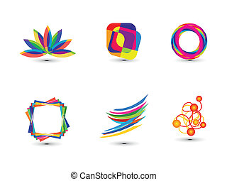 abstract colorful business icon