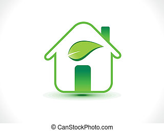 abstract eco home icon