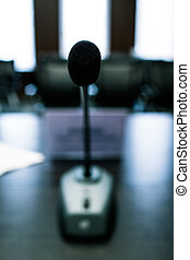subjective microphone - subjective view of the speaker to...