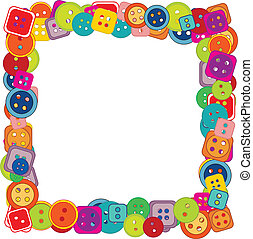 frame of buttons for kids
