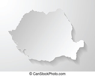 map of Romania shadow effect