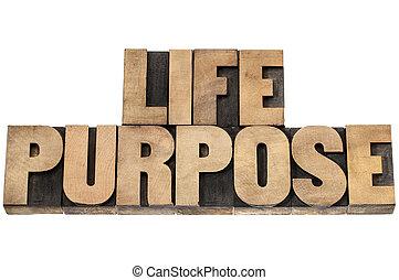 life purpose in wood type