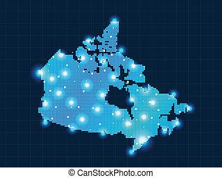 pixel Canada map