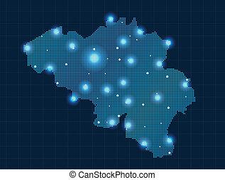 pixel Belgium map