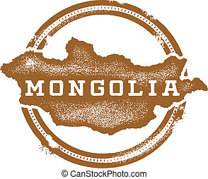 Mongolia Asia Country Stamp
