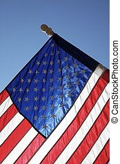Hometown American Flag - The American flag hangs proudly...