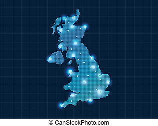 pixel united kingdom map