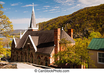 St Peters Roman Catholic Church, Harpers Ferry, West...