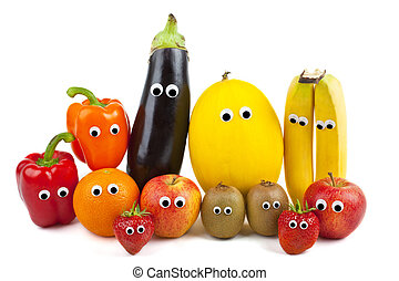 Fruit and Vegetable Family - Various Fruit and Vegetables...