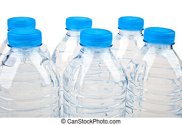 Bottled Water over a white background