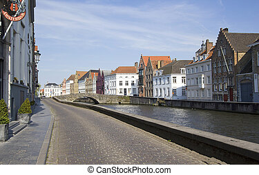 Bruges Belgium - Bruges canal in Belgium