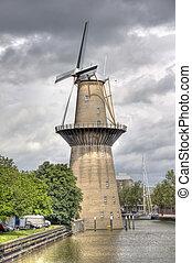 Windmill Nolet in Schiedam, Holland is a wind turbine...