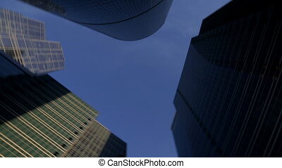 panorama of group skyscrapers