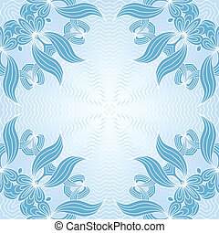 Ornamental pattern - Ornamental geometric lace pattern in...