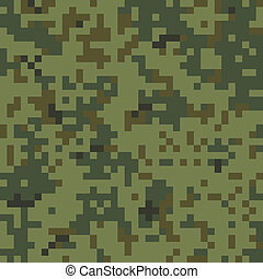 Seamless Camouflage Pattern - Seamless Digital Camouflage...