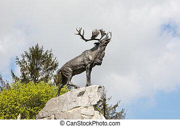 Newfoundland War Memorial France - Regimental emblem of the...