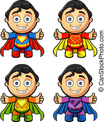 A Super Man Character - Thumbs Up - A super man character in...