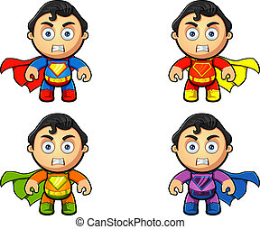 A Super Man Character - Angry - A super man character in 4...