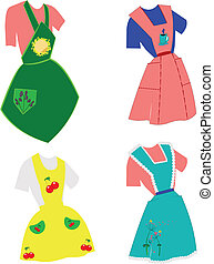 fifties apron set - aprons from fifties in set