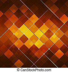 Red Abstract Square Dot Tech Background - Abstract Glowing...