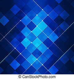 Blue Abstract Square Dot Tech Background - Abstract Glowing...