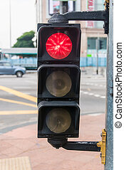 Red traffic light - Small red traffic light