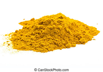 tumeric macro studio shoot isolated