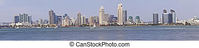 San Diego skyline panorama California - The San Diego...