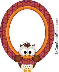 Owl hanging in a frame