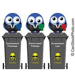 Government Waste Bins - Promises Policies and Lies...